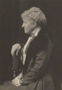 NPG Ax39227; Sarah Grand (Frances Elizabeth Bellenden McFall, nÈe Clarke) by Walter Stoneman, for James Russell & Sons
