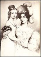 Princess Victoria and the Duchess of Kent 1834
